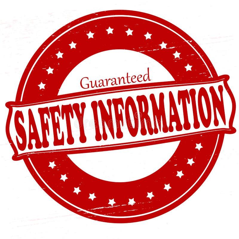 安全信息 库存例证