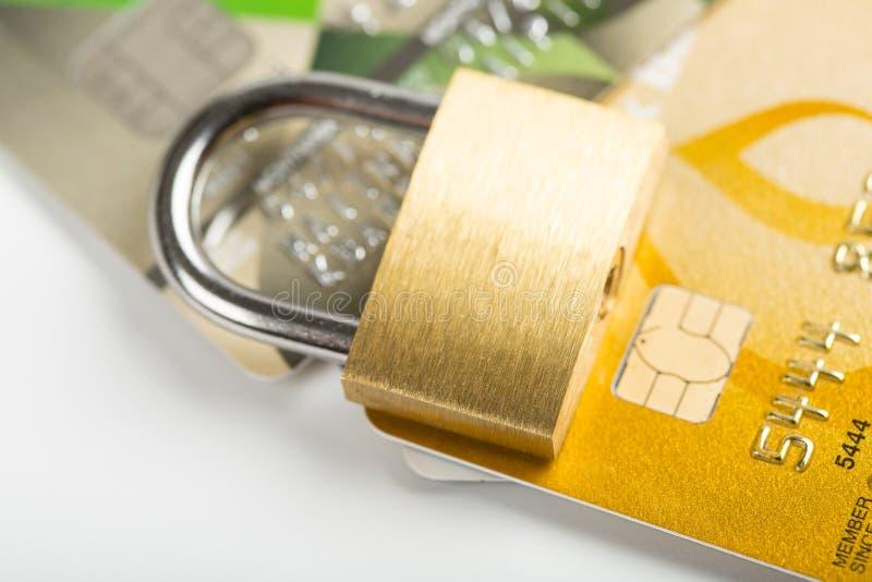 安全信用卡片 库存照片