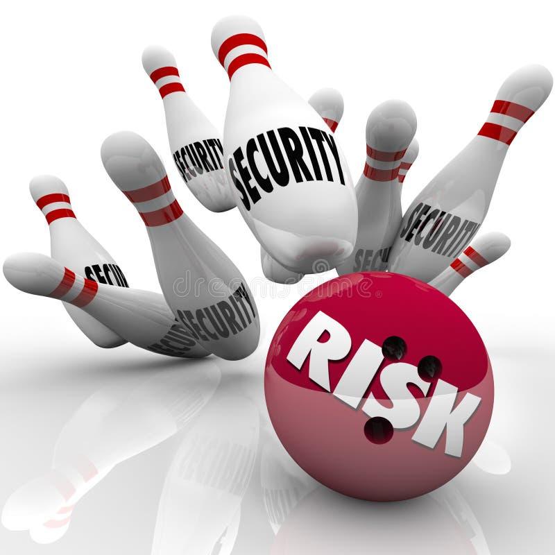 安全别住风险冒安全的风险保龄球危险 库存例证