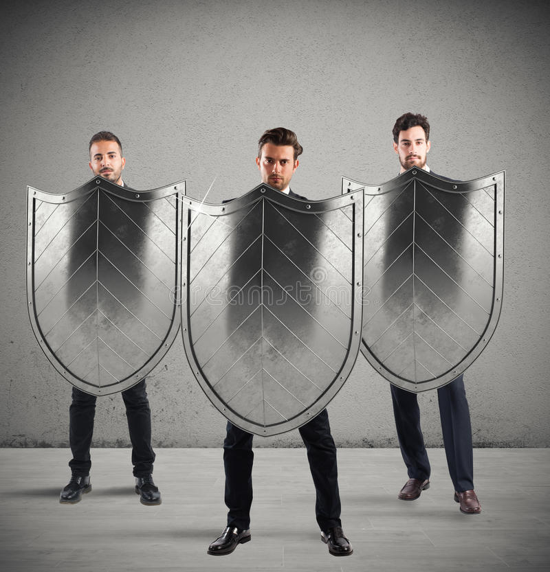 安全和保护在事务 免版税库存图片