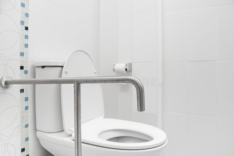 安全和劫掠洗手间的扶手 图库摄影