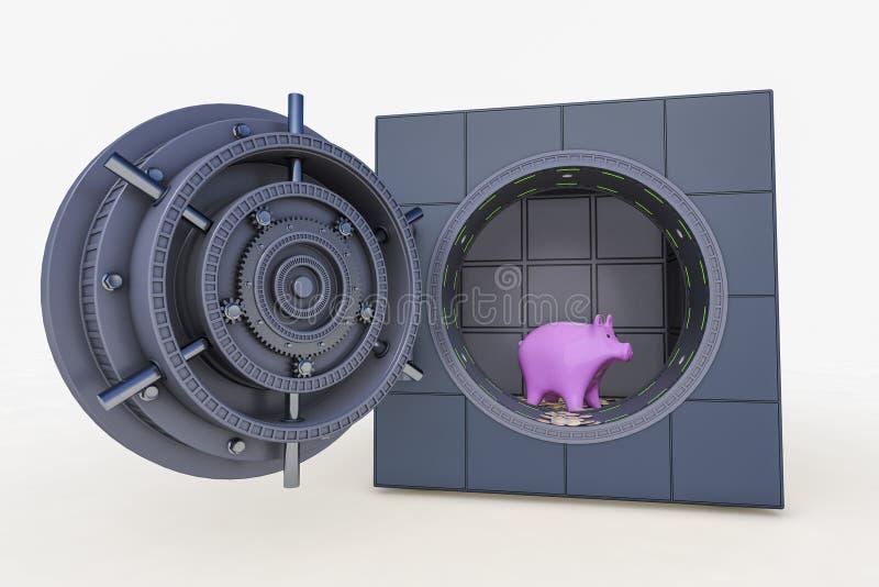 安全和存钱罐 库存例证