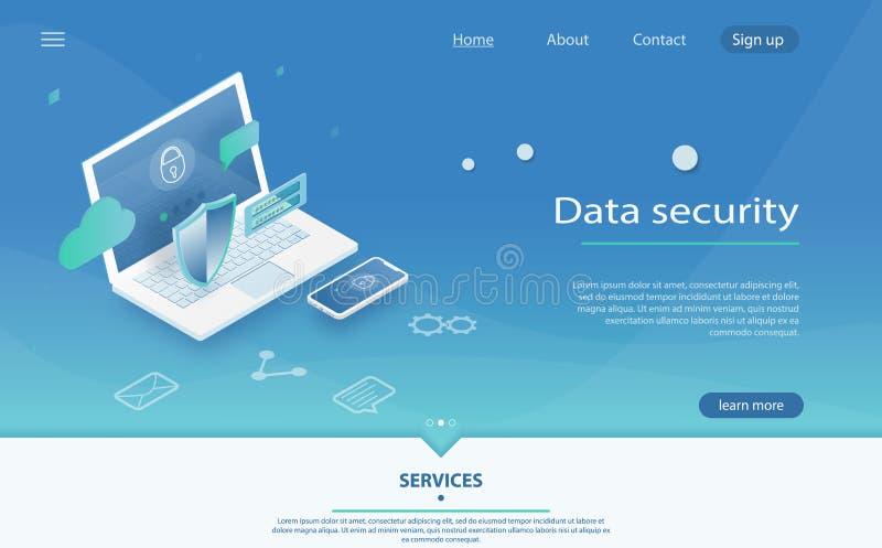 安全和机要数据保护、概念与字符挽救代码和检查访问 皇族释放例证
