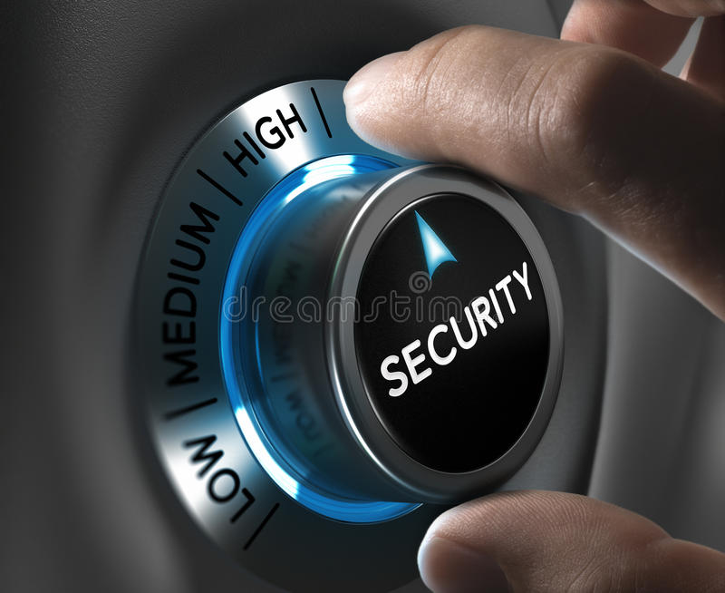 安全和风险管理概念 向量例证