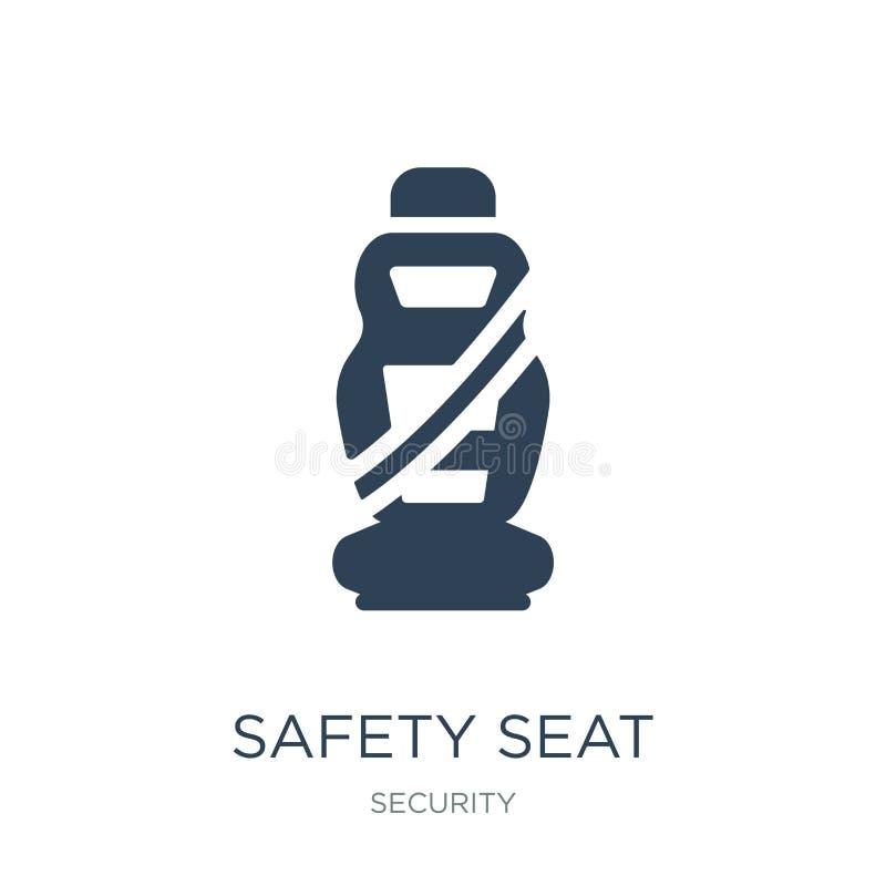 安全在时髦设计样式的位子象 安全在白色背景隔绝的位子象 安全位子现代传染媒介的象简单和 向量例证
