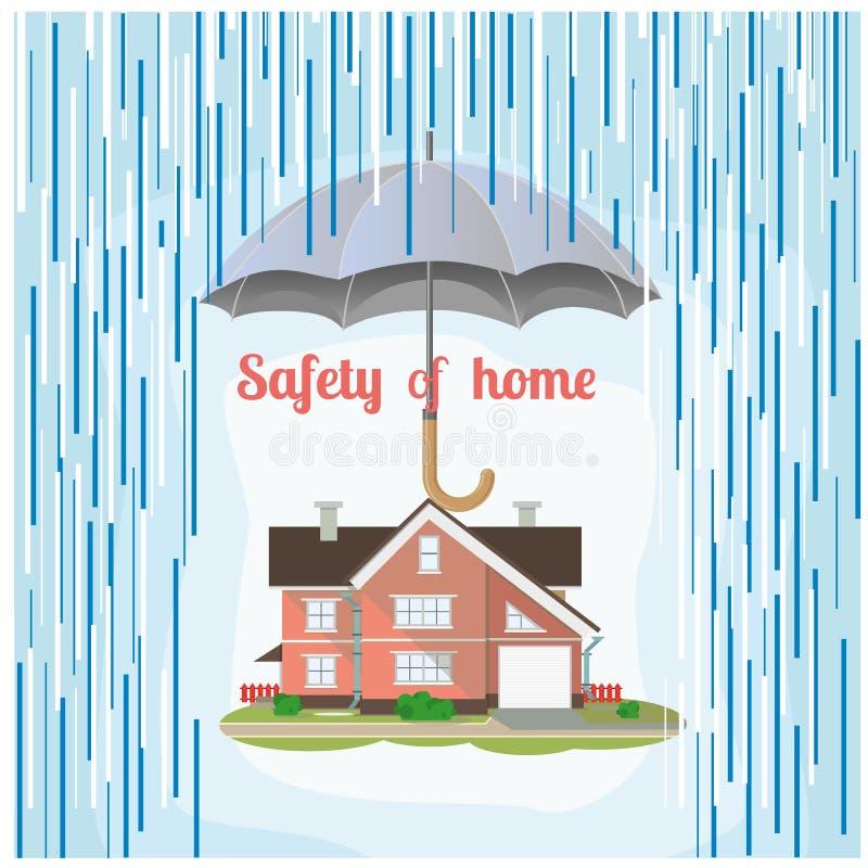安全家庭例证 横幅能五颜六色的例证使用您 库存例证