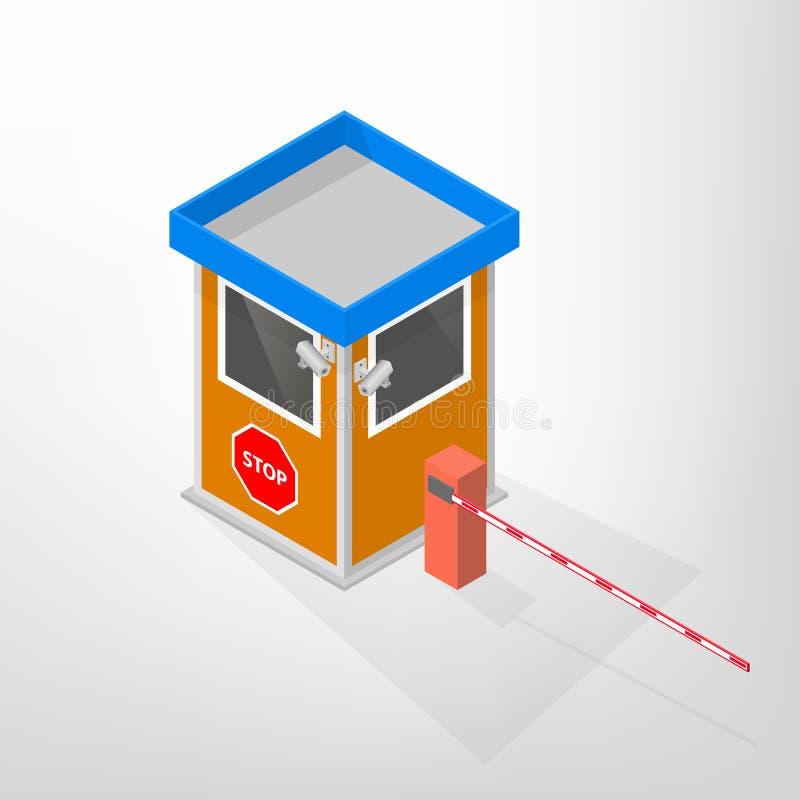 安全寄宿与等量自动的障碍,传染媒介例证 向量例证
