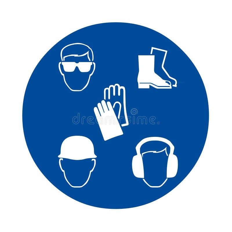 安全工作标志 皇族释放例证