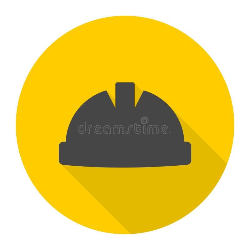 安全工作者与长的阴影的安全帽象 库存例证