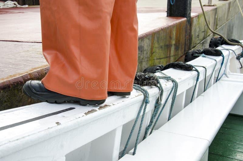安全工作-安全靴 免版税库存图片
