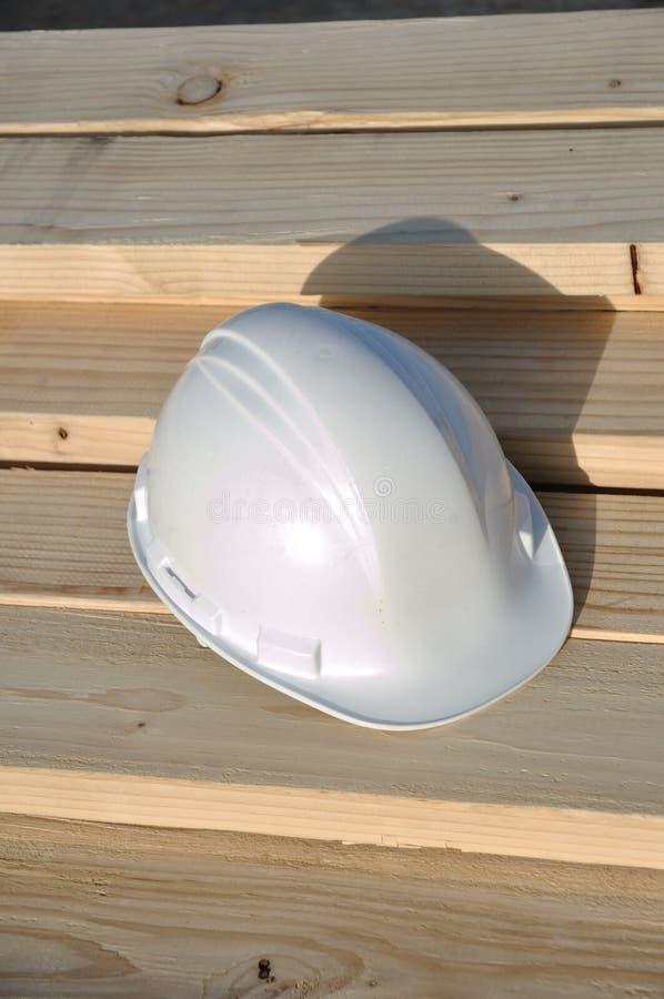 安全帽木料 库存图片