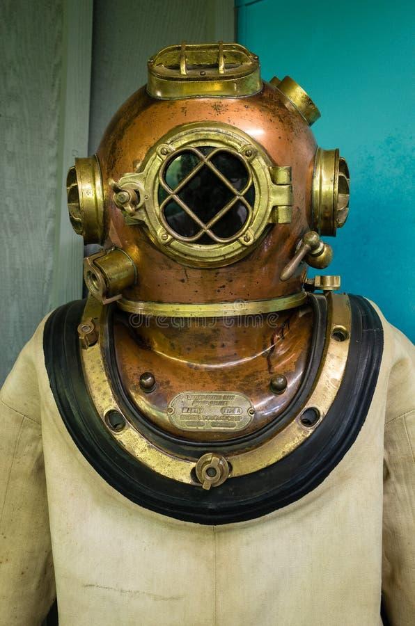 安全帽潜水盔甲 免版税库存图片