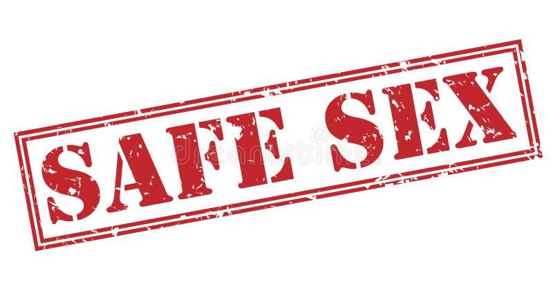 安全性交红色邮票 向量例证