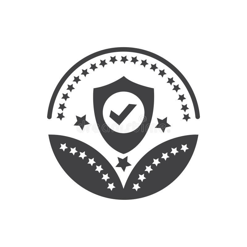 安全或保护奖象传染媒介保护标志 向量例证