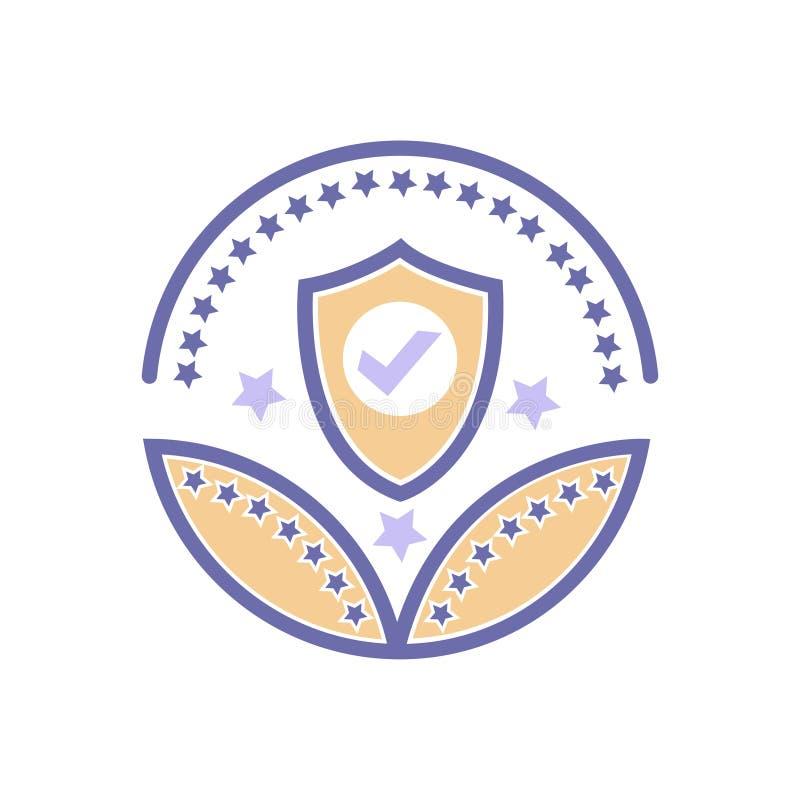 安全或保护奖象传染媒介保护标志 库存例证