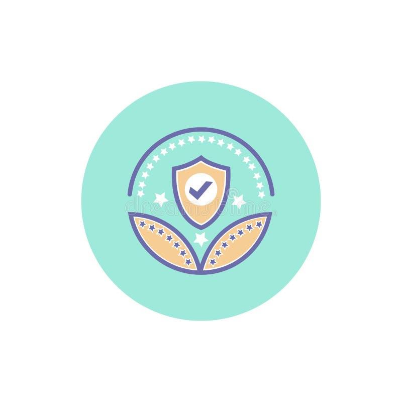 安全或保护奖象传染媒介保护标志 皇族释放例证