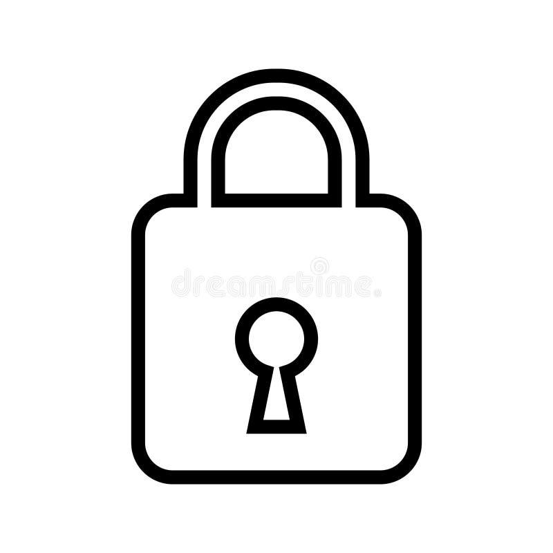 安全挂锁象,闭合的锁传染媒介象 皇族释放例证