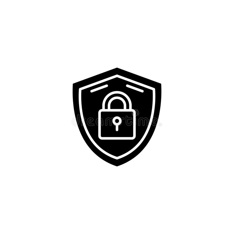 安全措施黑象概念 安全措施平的传染媒介标志,标志,例证 皇族释放例证