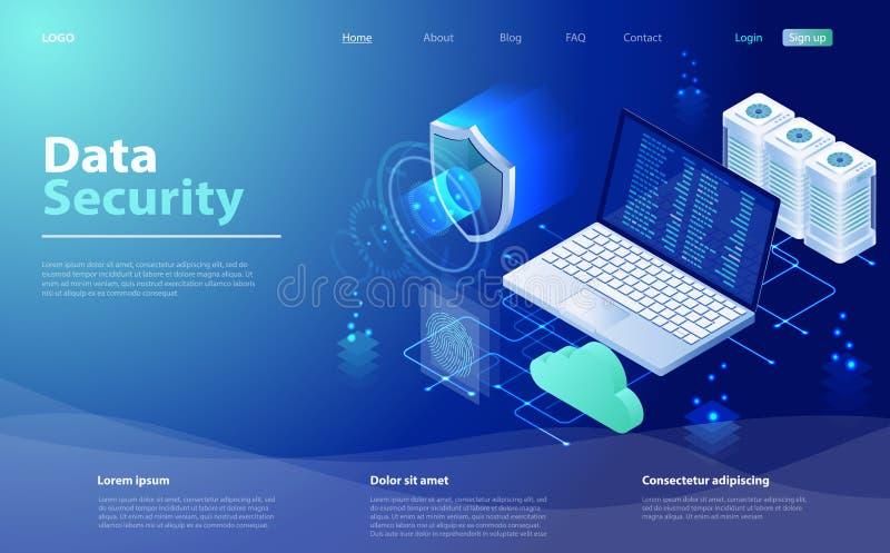 安全数据保护概念 等量概念保护网络和数据 数据网管理 皇族释放例证
