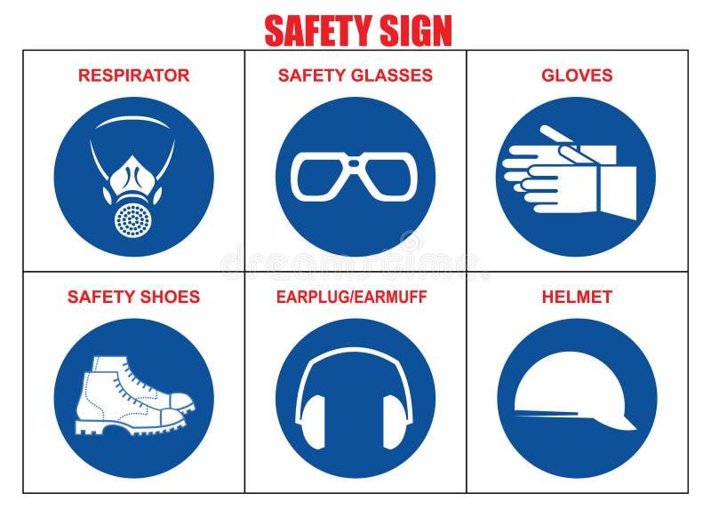 安全标志组装 库存例证