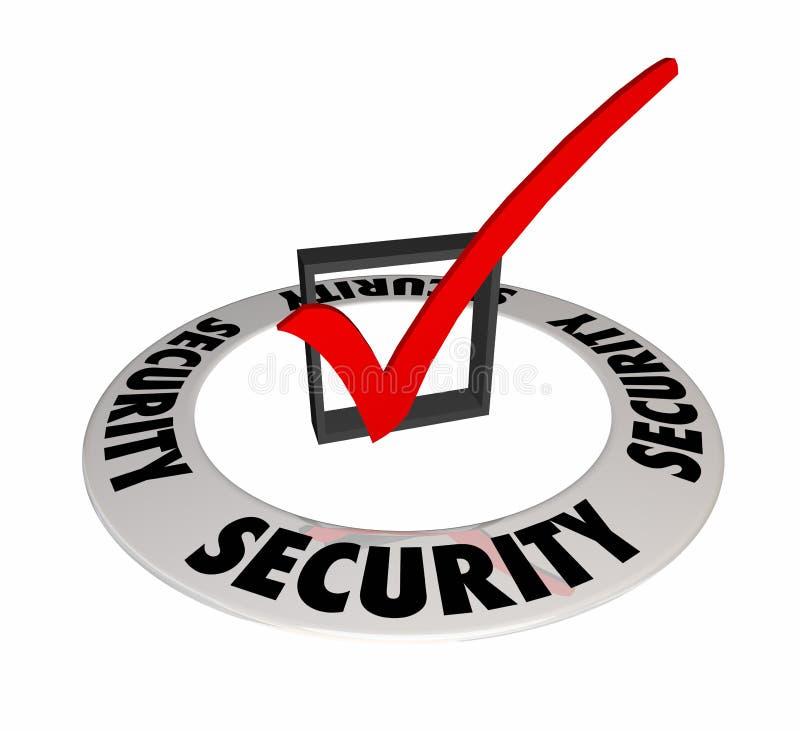 安全检查箱子标记小心预防安全安全3d Illu 向量例证