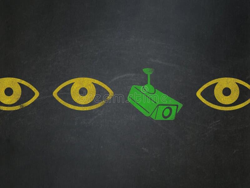 安全概念:cctv在校务委员会的照相机象 免版税库存图片