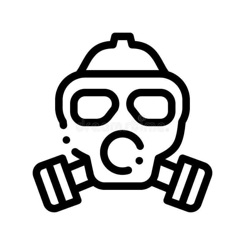 安全生活Gaz肮脏的空气面具传染媒介稀薄的线象 库存例证