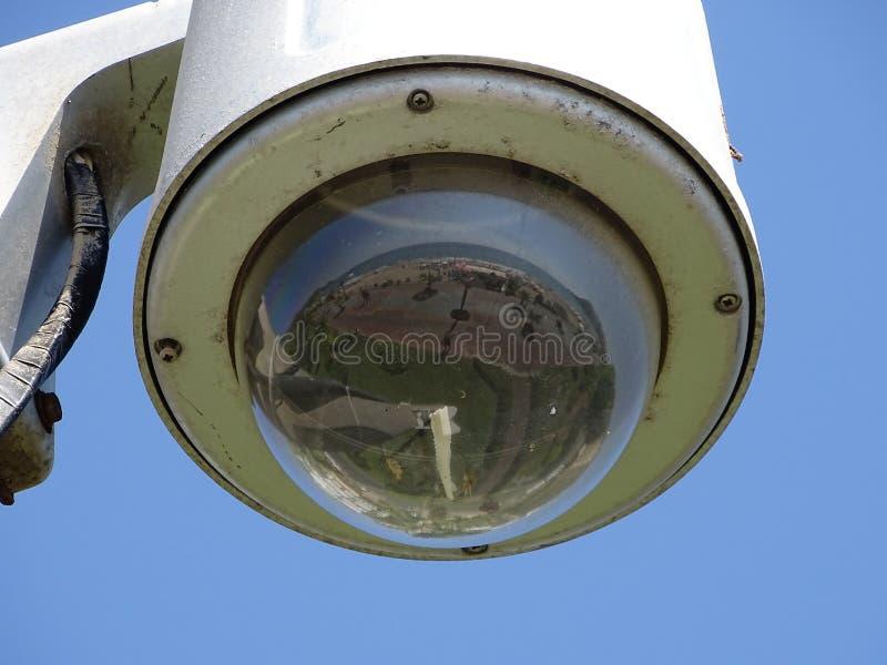 安全的室外网凸轮 库存图片