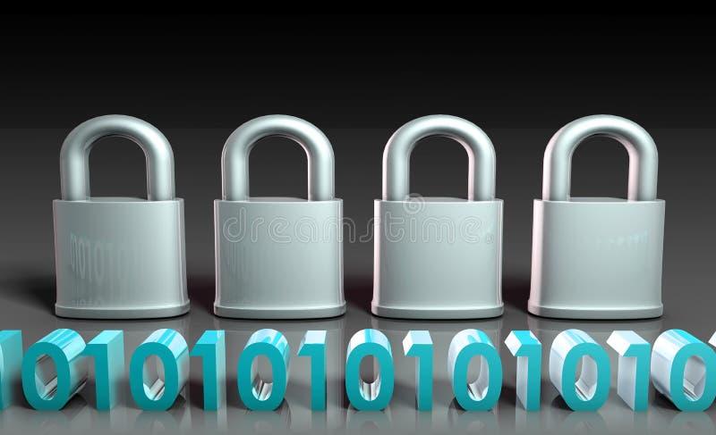 安全的网关 库存例证