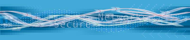 安全的网络连接 库存例证