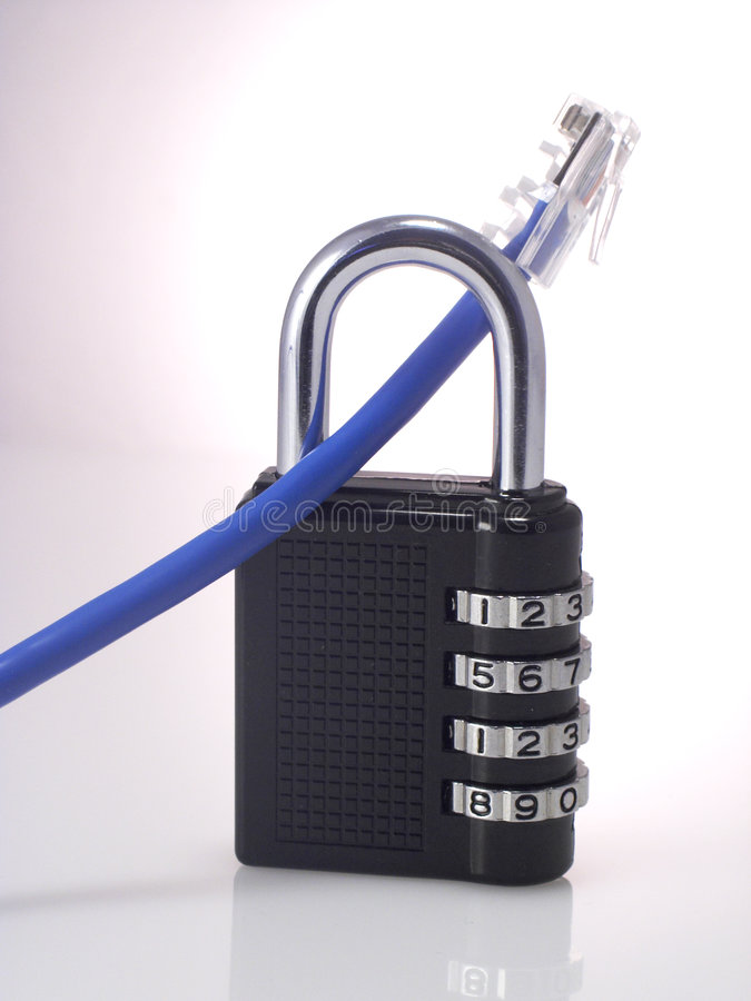 安全的网络 库存图片