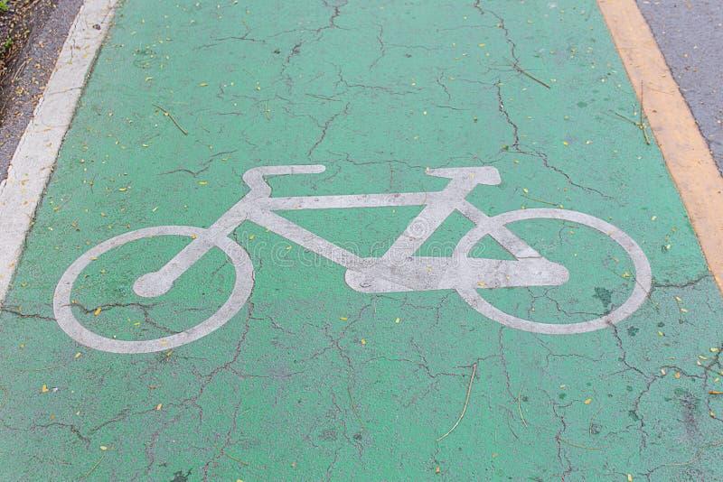 安全的自行车车道 免版税图库摄影