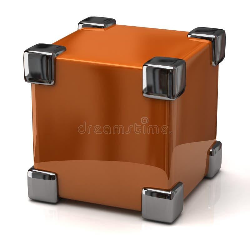 安全的配件箱概念 皇族释放例证