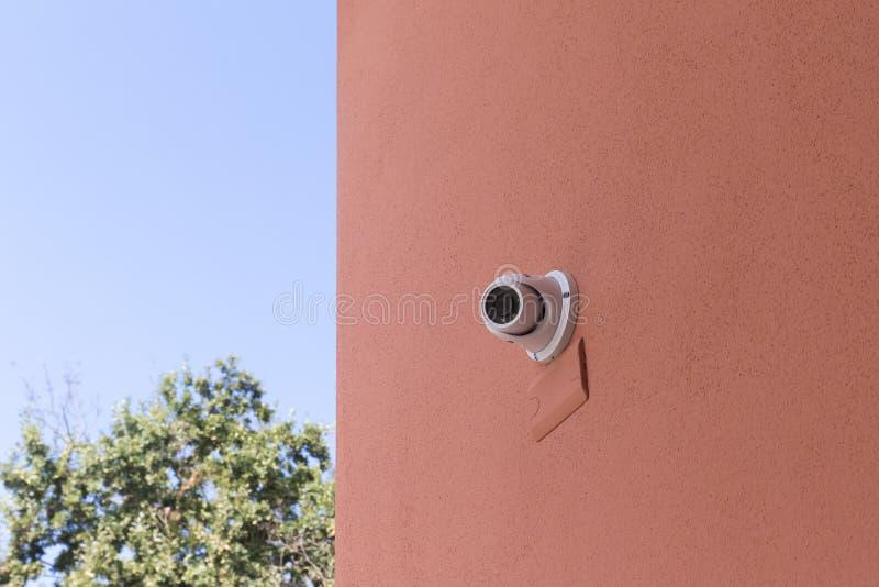 安全监控相机警报在住宅家 图库摄影