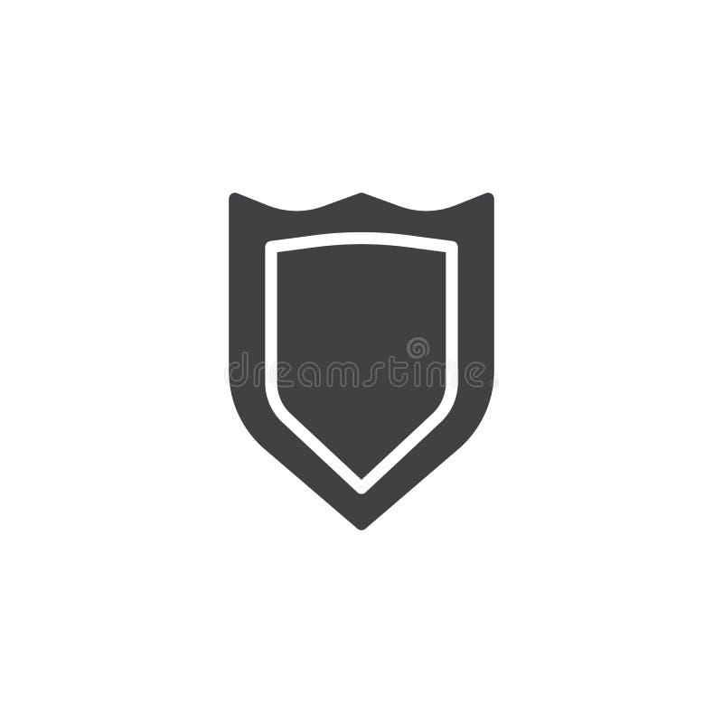 安全盾象传染媒介 向量例证