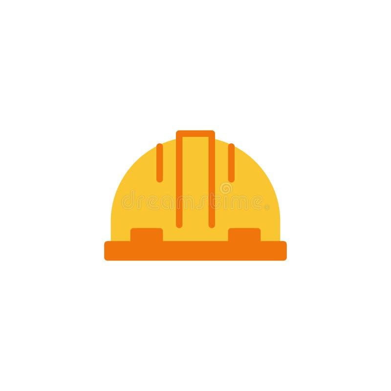 安全硬帽平面图标 向量例证