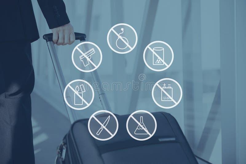 安全警告 免版税图库摄影