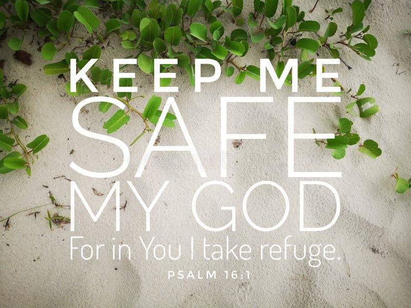 安全词的上帝从天的圣经诗歌的,在基督教的日常生活设计被鼓励 免版税库存图片
