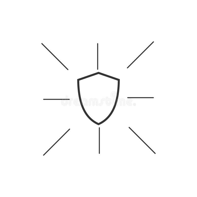 安全象商标传染媒介模板设计 库存例证