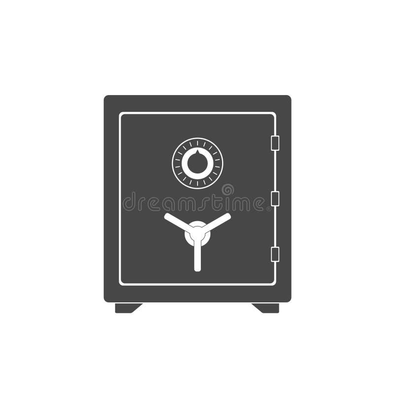 安全象 安全金属箱子金钱安全和安全金钱概念 安全财务钢安全珍宝存贮 闭合的安全 皇族释放例证