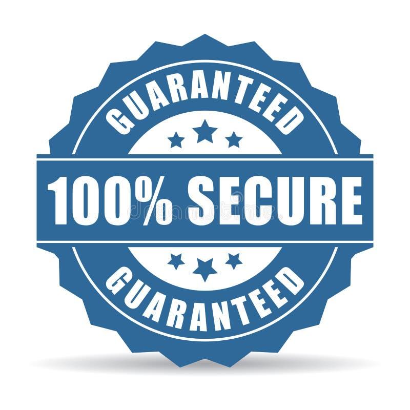 100安全象 向量例证