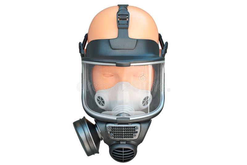 安全赞成面具玻璃 向量例证
