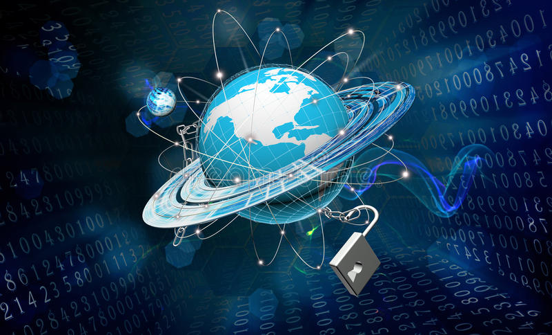 安全连接技术 库存照片