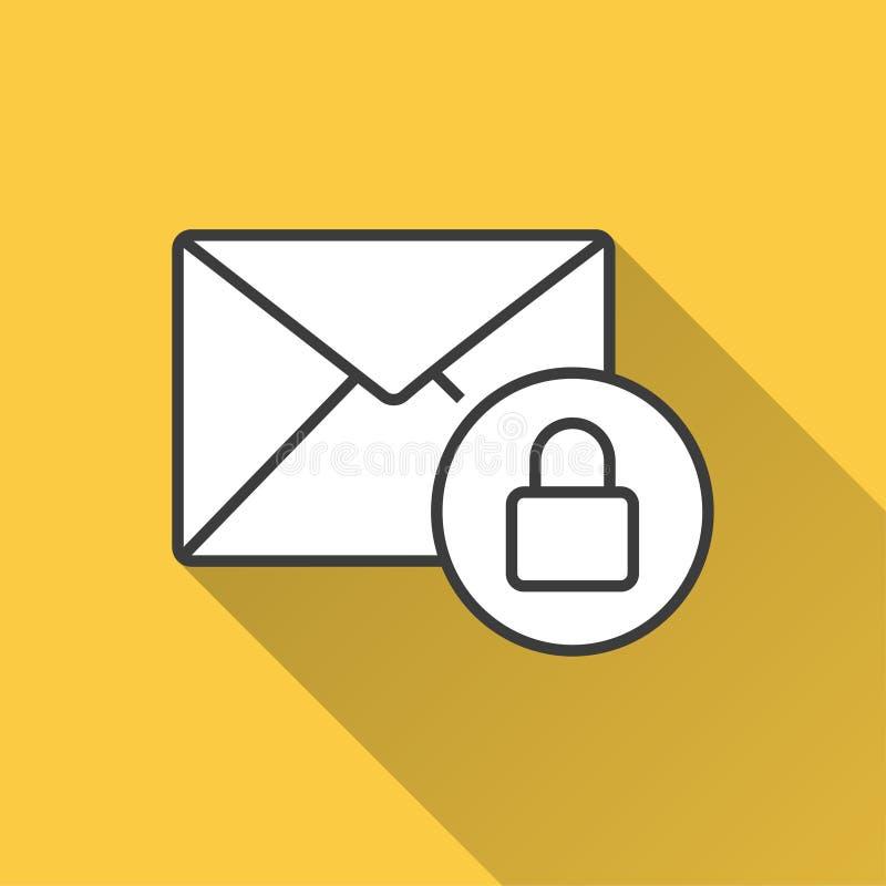 安全邮件-图表和网络设计的传染媒介象 皇族释放例证