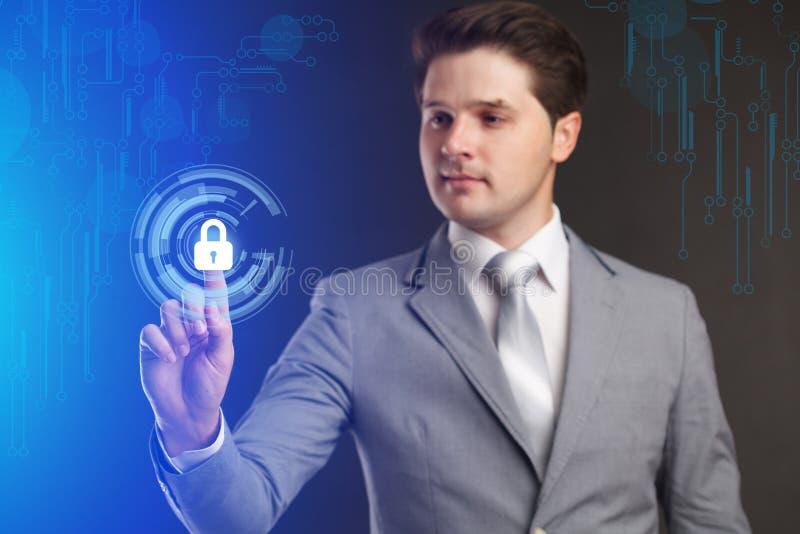 安全部门、cybersecurity和保护概念 事务 库存照片
