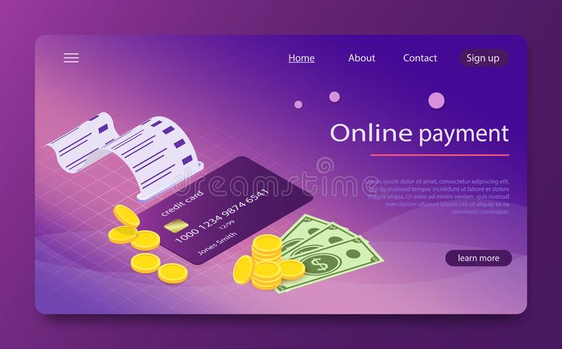 安全银行汇款通过移动设备,网上付款 等量网上付款网上概念 库存例证