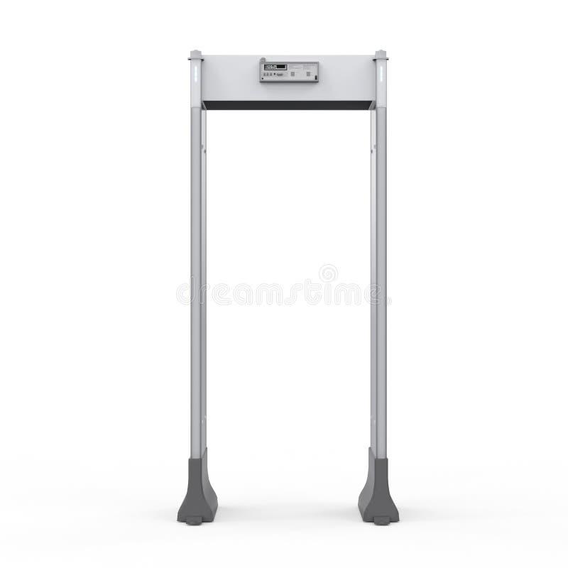 安全门或金属探测器 向量例证