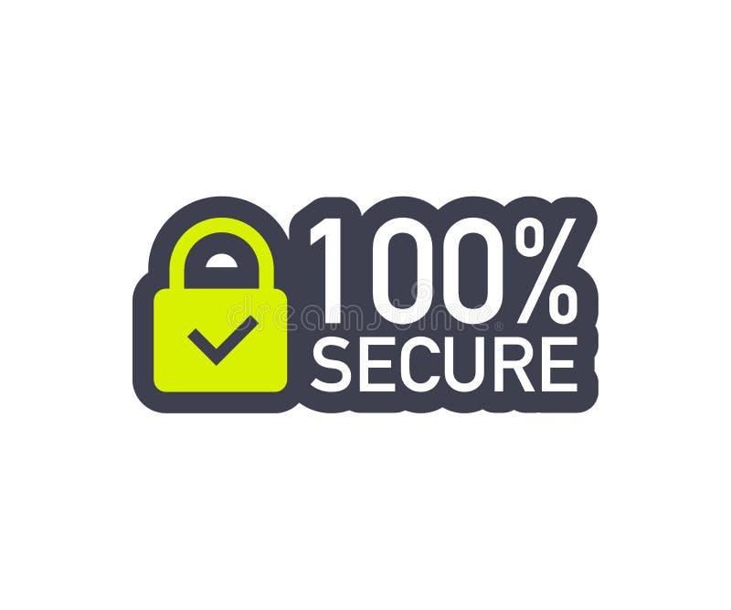 100安全难看的东西传染媒介象 徽章或按钮商务网站的 也corel凹道例证向量 皇族释放例证
