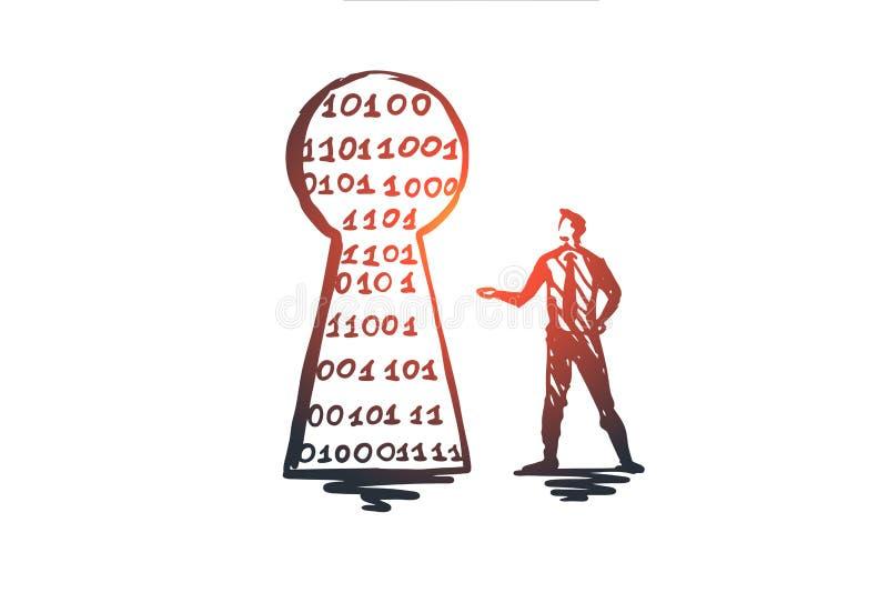 安全,保护,安全,网络,安全概念 手拉的被隔绝的传染媒介 库存例证