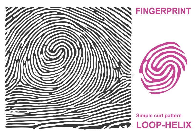 安全黑指纹的形状 证明ID手指 也corel凹道例证向量 皇族释放例证
